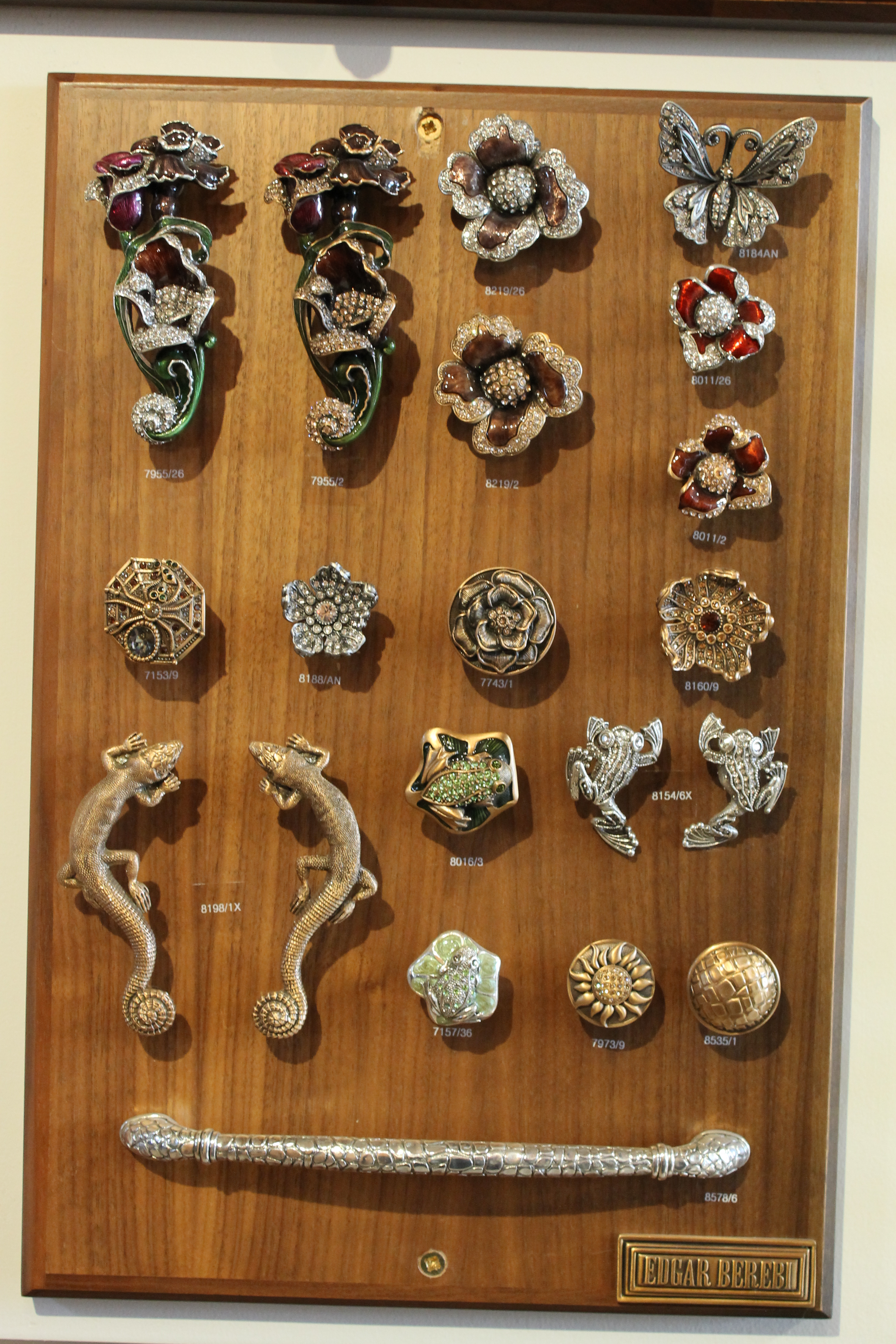 Our beautiful kitchen door knobs are works of art